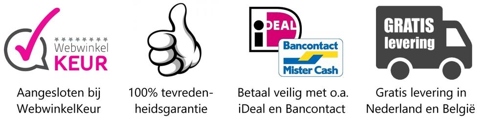 Uw voordelen van bestellen bij Mooie-Wanddecoratie.nl